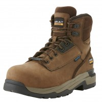 Ariat MasterGrip 6 Inch Brown Safety Boots