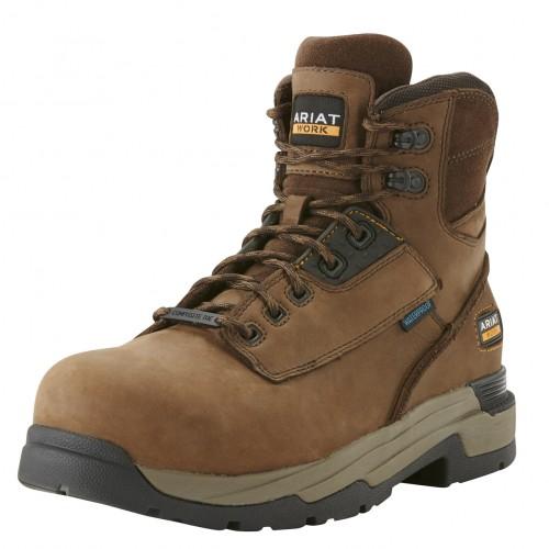 Ariat MasterGrip 6 Inch Brown Safety Boots