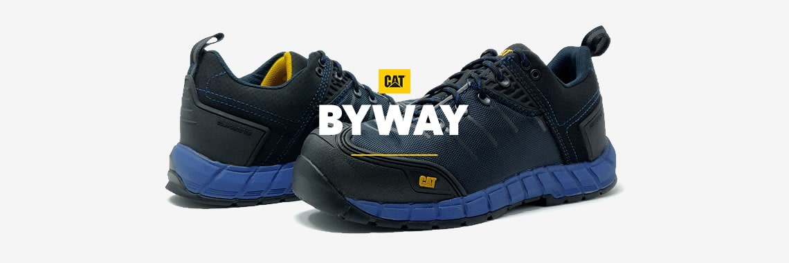 SALE — CAT Byway Blue Safety Trainers