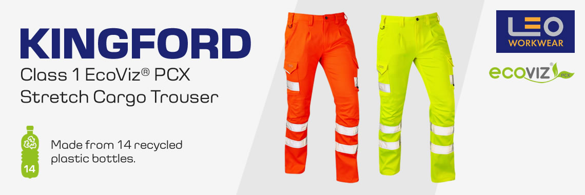 NEW - Leo Kingford Hi-Vis Stretch Trousers