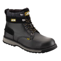 JCB 5CX Black Safety Boots With Steel Toe Caps and Midsole