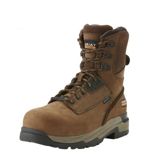 Ariat MasterGrip 8 Inch Brown Safety Boots