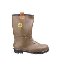 Amblers FS95 Tan PVC Rigger Boots