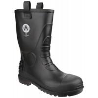 Amblers FS90 Black PVC Rigger Boots