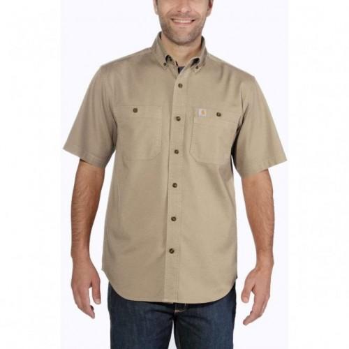 Carhartt Lw Rigby Solid S/S Shirt Khaki