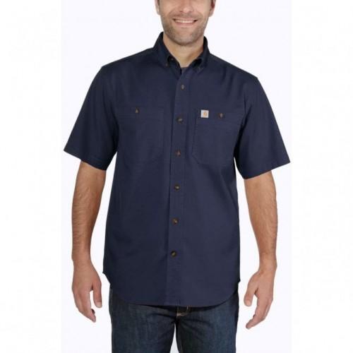 Carhartt Lw Rigby Solid S/S Shirt Navy