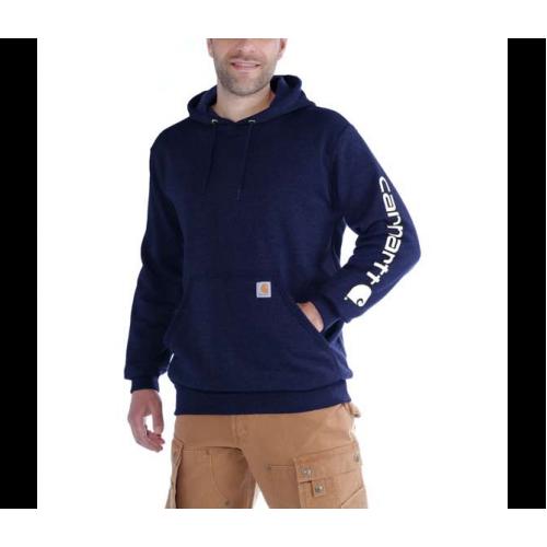 Carhartt Sleeve Logo Hoodie New Navy