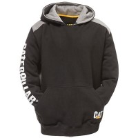 CAT C1910802 Logo Panel Hooded Sweatshirt