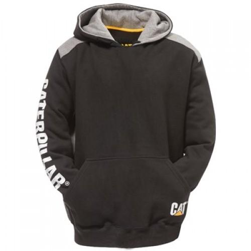 CAT C1910802 Logo Panel Hooded Sweatshirt