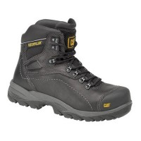 CAT Diagnostic Black Safety Boots With Steel Toe Caps & Midsole S3