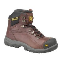 CAT Diagnostic Brown Safety Boots With Steel Toe Caps & Midsole S3