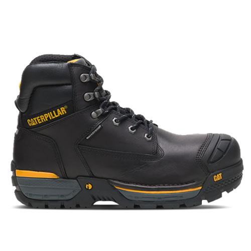 CAT Excavator Black Safety Boots