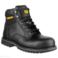 CAT Electric Black Safety Boots with Steel Toe Cap