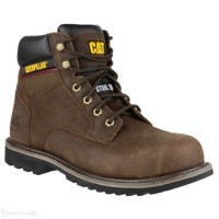 CAT Electric Brown Safety Boots with Steel Toe Cap