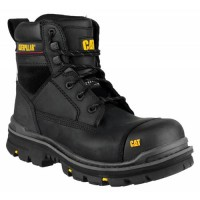 CAT Gravel Black Safety Boots with Steel Toe Cap