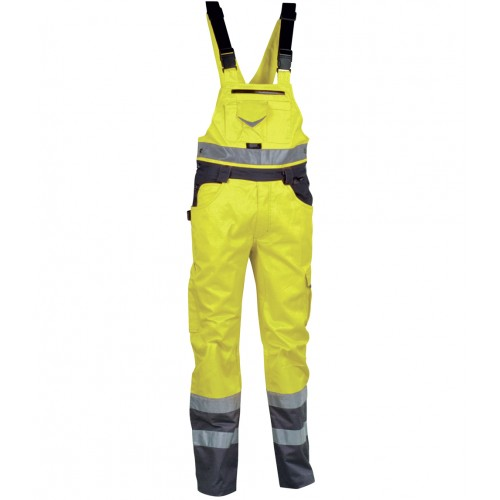 Cofra Bright Yellow High Visibility Bib n Brace