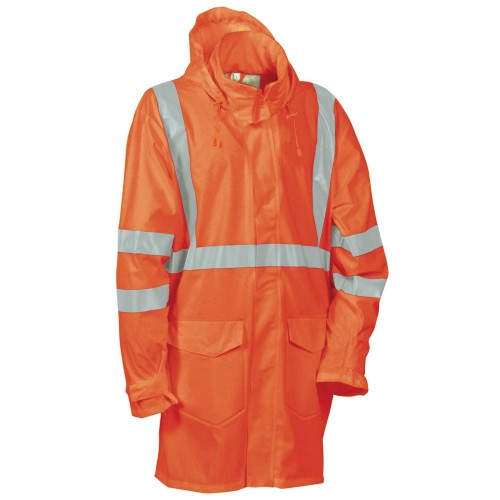 Cofra Caracas High Visibility Orange Waterproof Jacket
