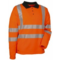 Cofra Highway High Visibility Long Sleeve Polo Shirt