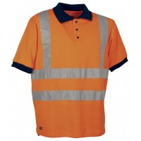 Cofra Spotlight Orange High Visibility Polo Shirt