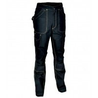 Cofra Dublin Black Canvas Trousers