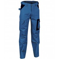 Cofra Dublin Blue Canvas Trousers