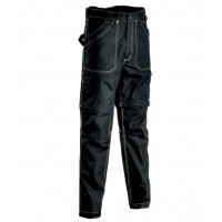 Cofra Helsinki Black Zip-Off Canvas Trousers