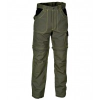 Cofra Helsinki Brown Zip-Off Canvas Trousers