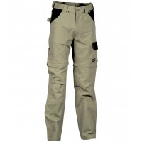 Cofra Helsinki Khaki Zip-Off Canvas Trousers
