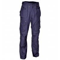 Cofra Navy Rotterdam Canvas Trousers