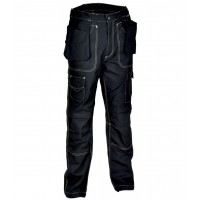 Cofra Black Rotterdam Canvas Trousers