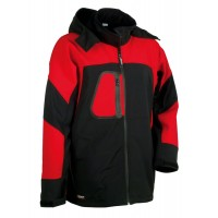 Cofra Sweden Black/Red Softshell Jacket