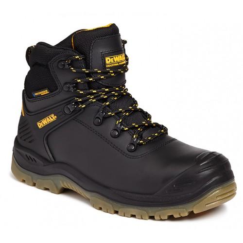 Dewalt Newark Black Waterproof Safety Boots Steel Toe Caps and Midsole