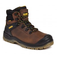 Dewalt Newark Brown Waterproof Safety Boots Steel Toe Caps and Midsole