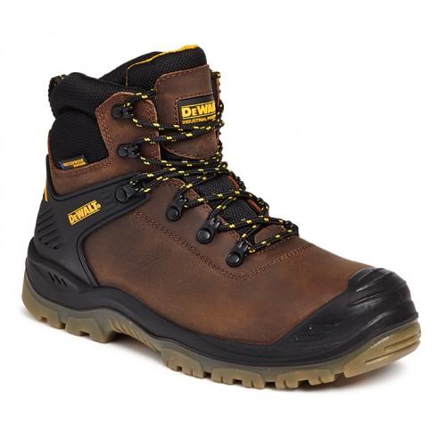 Dewalt Newark Brown Waterproof Safety Boots Steel Toe Caps and Midsole