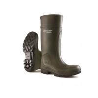 Dunlop Purofort Green Safety Wellingtons C462933