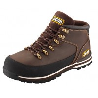 JCB 3CX Safety Boots Brown With Steel Toe Caps Midsole