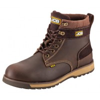 JCB 5CX Brown Safety Boots With Steel Toe Caps and Midsole