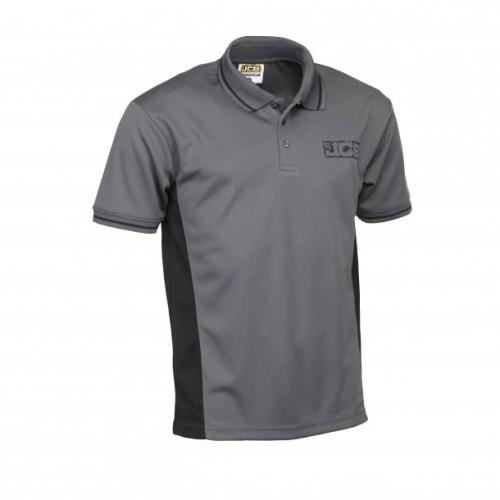JCB Trade Performance Polo Shirt Grey