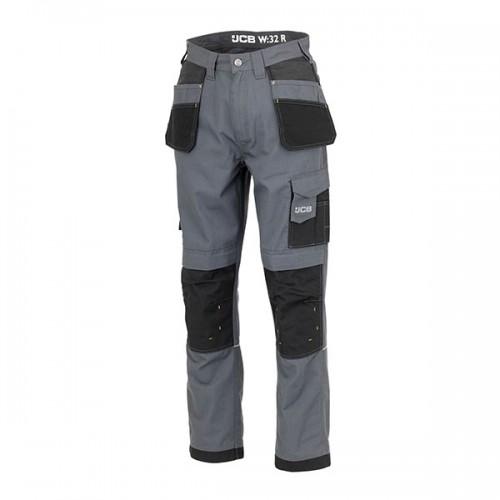 JCB Trade Plus Ripstop Trousers Grey Short Leg