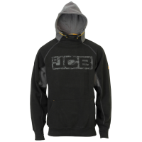 JCB Workwear Mens HORTON Heavyweight Hooded Top Hoodie Black