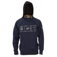 JCB Workwear Mens HORTON Heavyweight Hooded Top Hoodie Navy