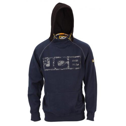 JCB Workwear Mens HORTON Heavyweight Hooded Top Hoodie Navy