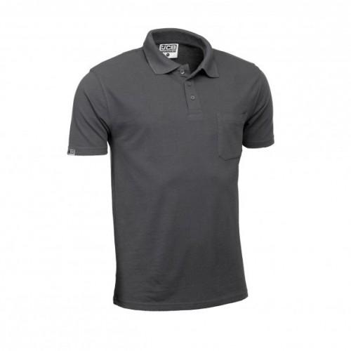 JCB Essential Polo Shirt Grey