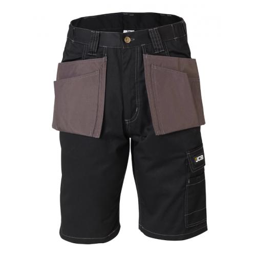 JCB Workwear Keele Shorts Black/Grey