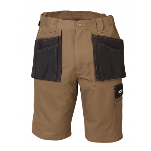 JCB Workwear Keele Work Shorts Sand/Black