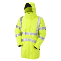 Leo Workwear Bampton Yellow Hi-Vis Executive Anorak