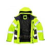 Leo Workwear Exmoor Class 3 Yellow Hi Vis Breathable Jacket