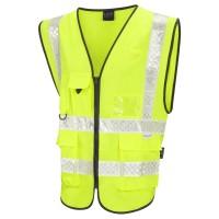 Leo Workwear Heanton Class 2 Superior Plus Hi-Vis Waistcoat