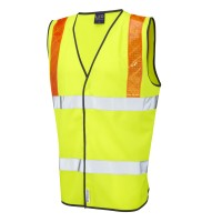 Leo Workwear Brendon Class 2 Hi-Vis Waistcoat