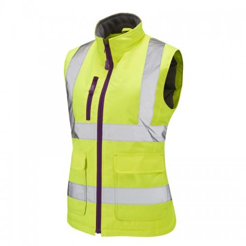 Leo Workwear Sandymere Yellow Hi-Vis Body Warmer Class 1